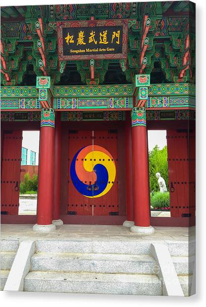 Taekwondo Canvas Print - Songahm Gate by Amy Sorvillo