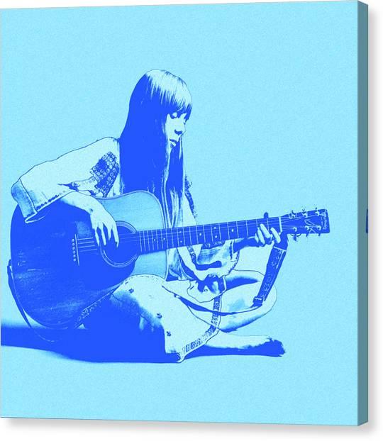 Joni Mitchell Canvas Print - Songbird by Little Bunny Sunshine