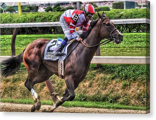 Songbird With Mike Smith Saratoga August 2017 Canvas Print