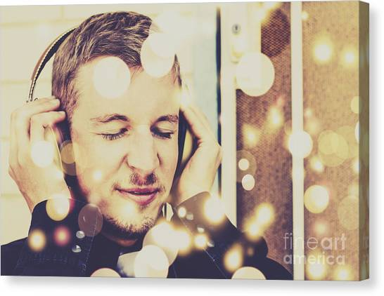 Headphones Canvas Print - Songs In Frequency by Jorgo Photography - Wall Art Gallery