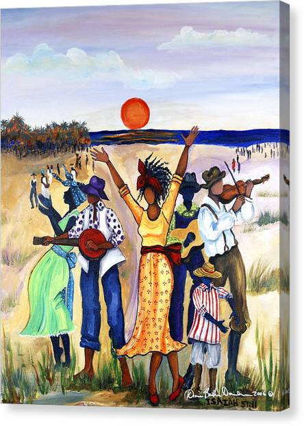 African Canvas Print - Songs Of Zion by Diane Britton Dunham
