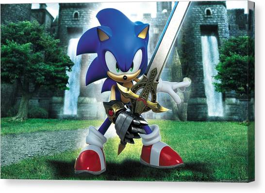 Dinosaurs Canvas Print - Sonic And The Black Knight by Super Lovely