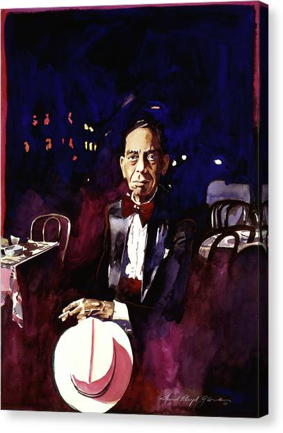Harlem Canvas Print - Sonny Greer Jazz Drummer by David Lloyd Glover