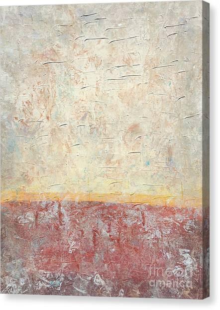 Sonoran Desert #2 Southwest Vertical Landscape Original Fine Art Acrylic On Canvas Canvas Print