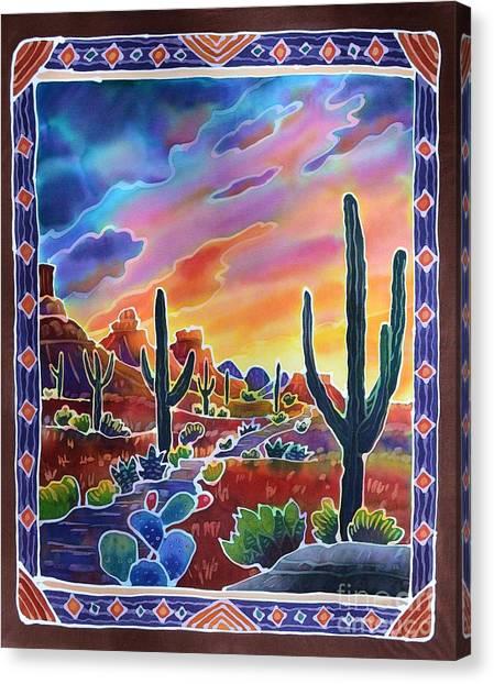 Sonoran Desert Canvas Print - Sonoran Desert Sunset by Harriet Peck Taylor
