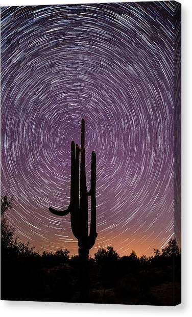 Sonoran Star Trails Canvas Print