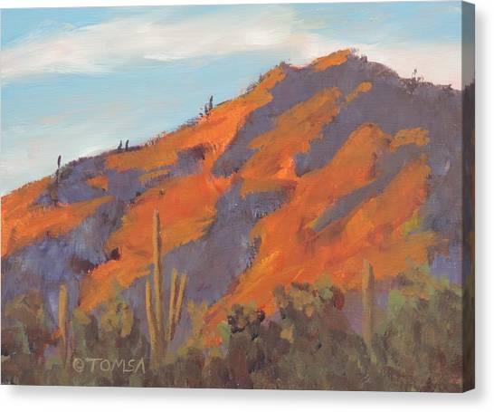 Sonoran Sunset - Art By Bill Tomsa Canvas Print
