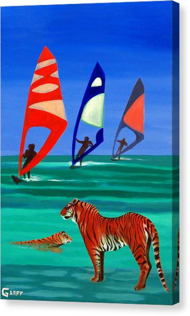 Tigers Sons Of The Sun Canvas Print