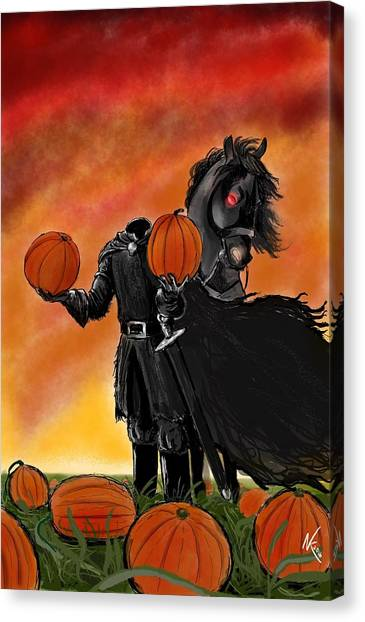 Ichabod Canvas Print - Soon It Will Be All Hallows' Eve by Norman Klein