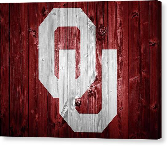 Sooners Barn Door Canvas Print