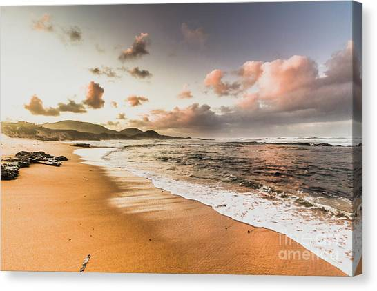 Low Tide Canvas Print - Soothing Seaside Scene by Jorgo Photography - Wall Art Gallery