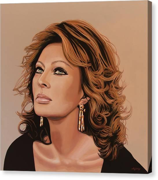 Courage Canvas Print - Sophia Loren 3 by Paul Meijering