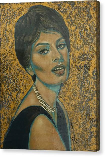 Sophia Loren Canvas Print by Jovana Kolic