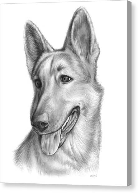German Shepherds Canvas Print - Sophie by Greg Joens