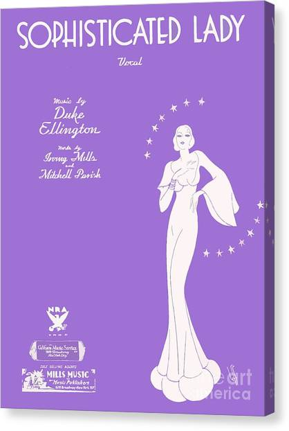 Sophisticated Lady Sheet Music Art Canvas Print