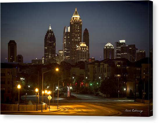 Emory University Canvas Print - Sophistication Majestic Midtown Atlantic Station Cityscape Art by Reid Callaway