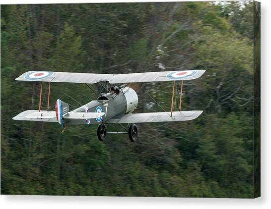 Sopwith 1 1/2 Stutter Takes To The Sky Canvas Print by Liza Eckardt