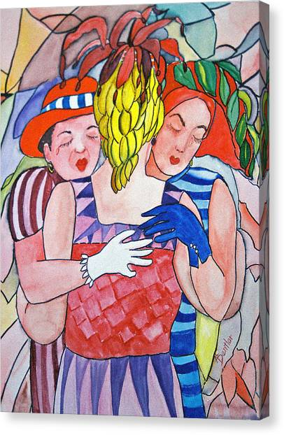 Sorrowful Sisters Canvas Print by AnnE Dentler