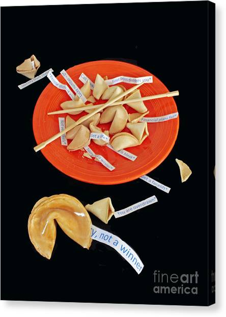 Chinese Restaurant Canvas Print - Misfortune Cookies by Joe Jake Pratt