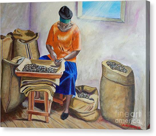 Sorting Nutmegs Canvas Print