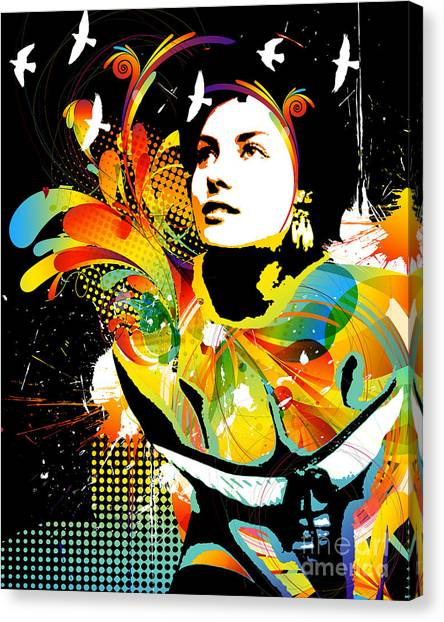 Art Nouveau Canvas Print - Soul Explosion II by Chris Andruskiewicz