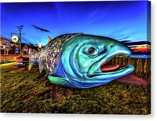 Soul Salmon During Blue Hour Canvas Print