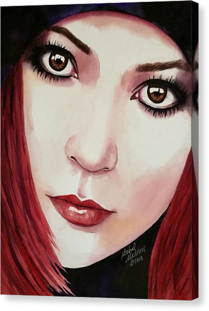 Canvas Print featuring the painting Soul Sister by Michal Madison