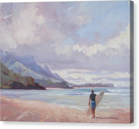 Plein Air Canvas Print - Soul Surfer by Jenifer Prince