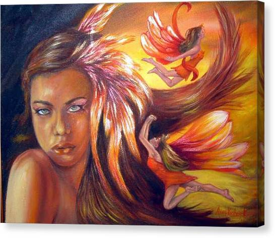 Soulfire Canvas Print by Anne Kushnick
