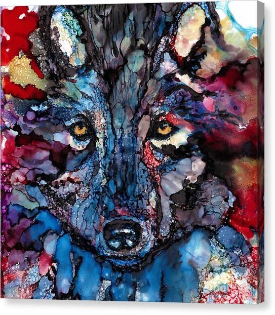 Warrior Goddess Canvas Print - Soulful Wolf by Jane Marlin