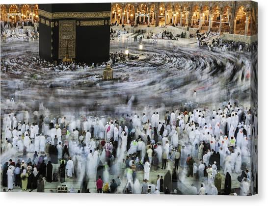 Soul Canvas Print - Souls Circling by Hasan Al Mubarak