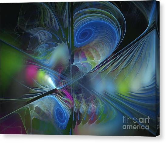 Lyrical Abstraction Canvas Print - Sound And Smoke by Karin Kuhlmann
