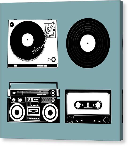 Vintage Polaroid Canvas Print - Sound Evolution 11 by Bekim Art