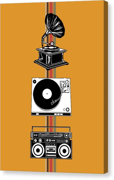 Vintage Polaroid Canvas Print - Sound Evolution 4 by Bekim Art