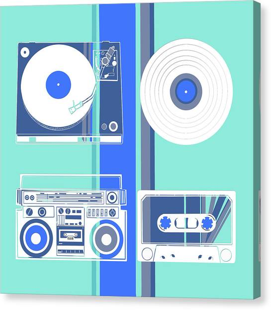 Vintage Polaroid Canvas Print - Sound Evolution 9 by Bekim Art