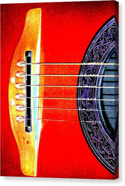 Sound Hole Canvas Print by Peter  McIntosh