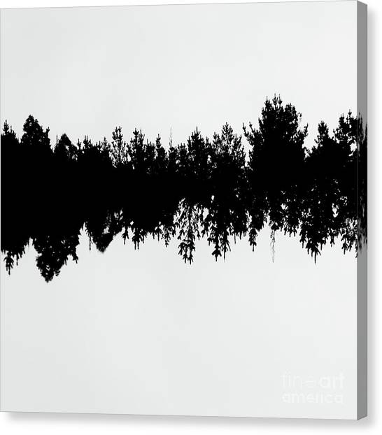 Sound Waves Made Of Trees Reflected Canvas Print