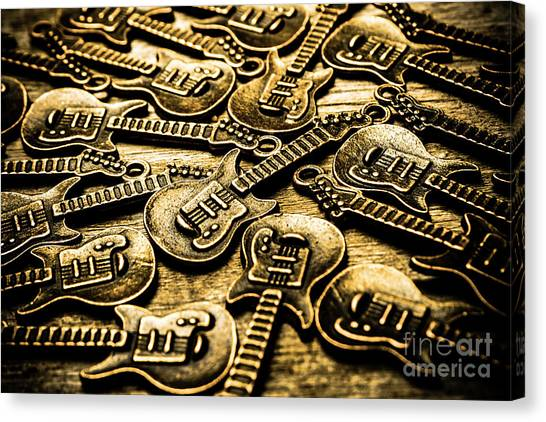 Acoustic Guitars Canvas Print - Sounds Of Country And Western Music by Jorgo Photography - Wall Art Gallery