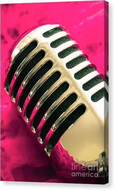 Microphones Canvas Print - Sounds Of Satin by Jorgo Photography - Wall Art Gallery