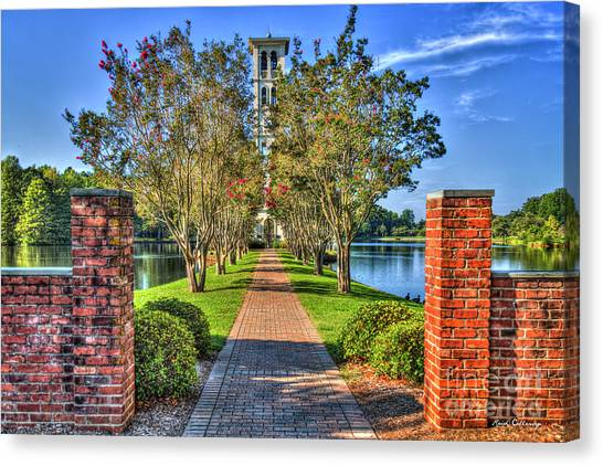 University Of South Carolina Canvas Print - Sounds Of Victory Too The Bell Tower Furman University Greenville South Carolina Art by Reid Callaway