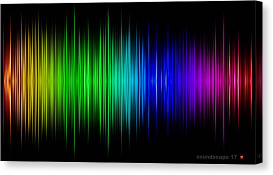 Soundscape 17 Canvas Print