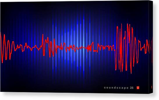 Soundscape 26 Canvas Print