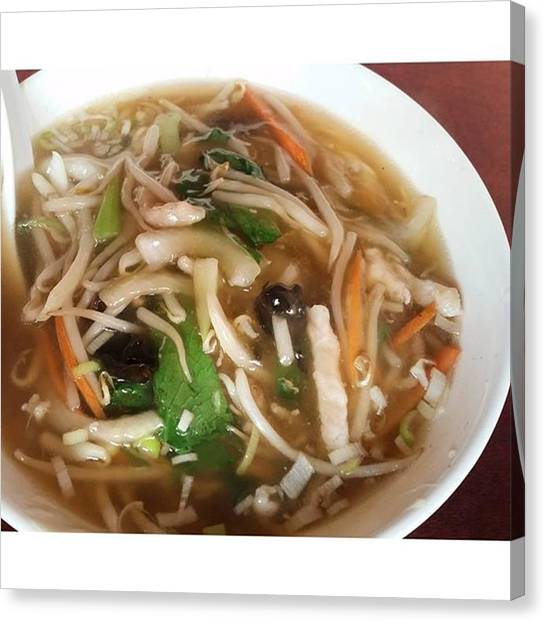 Pumpkins Canvas Print - Soup Noodle Lunch In Chinatown by Lady Pumpkin