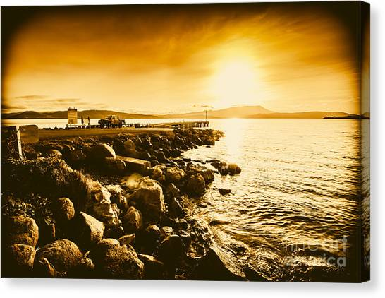 Angling Art Canvas Print - South Arm Sunset by Jorgo Photography - Wall Art Gallery