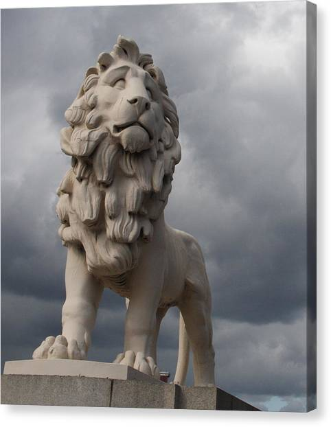 South Bank Lion.  Canvas Print