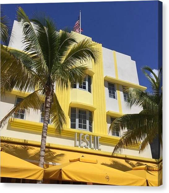 Miami Canvas Print - South Beach #juansilvaphotos by Juan Silva