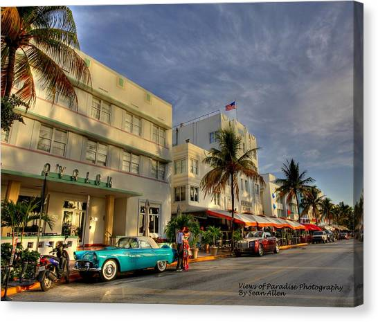 South Beach Park Central Hotel Canvas Print
