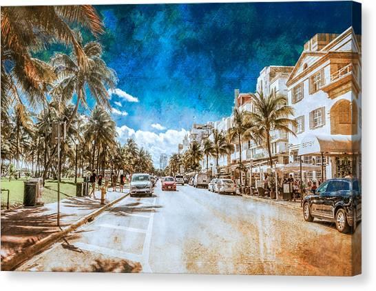 South Beach Road Canvas Print