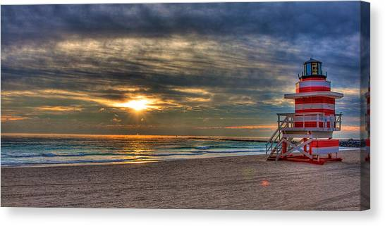 South Beach Sunrise Canvas Print