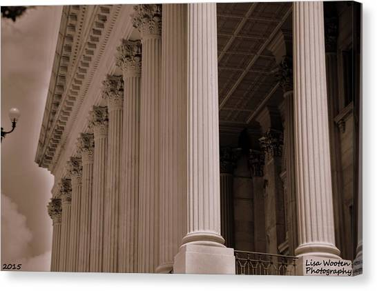 South Carolina State House Columns  Canvas Print